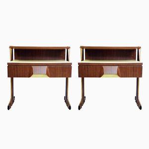 Tables de Chevet ou Tables d'Appoint Mid-Century, Italie, Set de 2