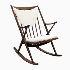 Mid-Century Teak Rocking Chair by Frank Reenskaug for Bramin