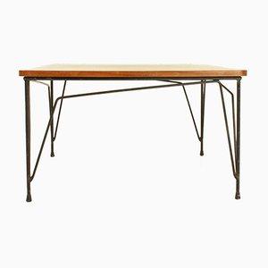 Table Basse Carrée en Teck de Cerutti, 1950s