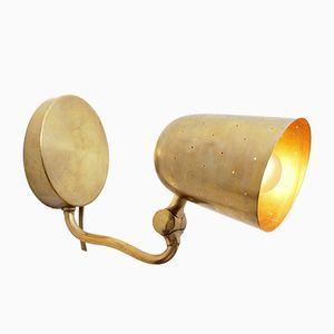 Schwedische Vintage Messing Wandlampe von Boréns, 1950er