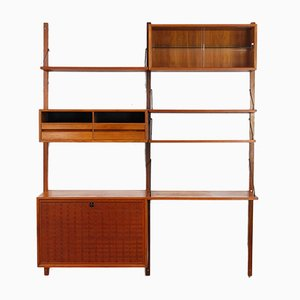 Teak Wall Unit by Poul Cadovius for Royal System, 1950s
