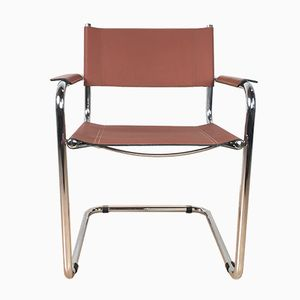 Mid-Century Leather Cantilever Chair, 1960s