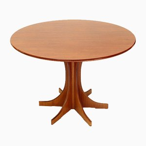 Italian Round Wooden Dining Table, 1960s