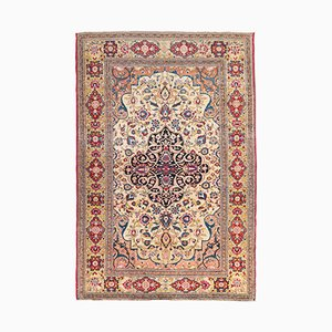 Antique Ispahan Rug with Persian Design on Medallion