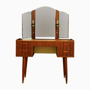 Vintage Danish Dressing Table with Mirror