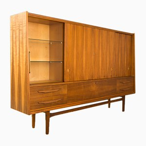 Walnut Veneer Highboard, 1960s