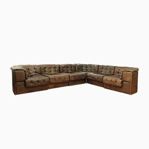 Vintage Large DS-11 Modular Patchwork Sofa from de Sede