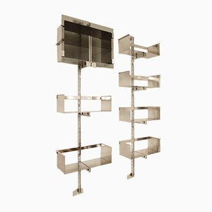 Chrome Wall Units by Vittorio Introini for Saporiti, 1969, Set of 2