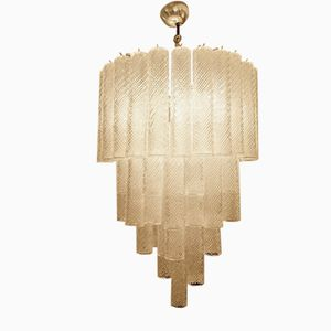 Vintage Murano Glass Tube Chandelier, 1970s