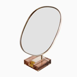 Vanity Mirror in Stainless Steel from Patek Philippe, 1980s