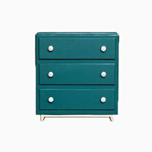 Vintage 3-Drawer Chest in Green Painted Fir