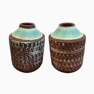 Art Déco Keramik Vasen, 2er Set