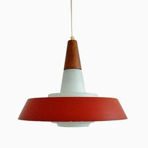 Lampe à Suspension en Verre Opalin, Danemark, 1960s