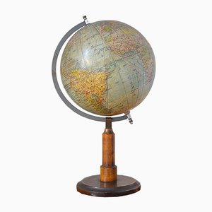 Vintage German Globe by Prof. Dr. A. Krause for Paul Räth, 1920s
