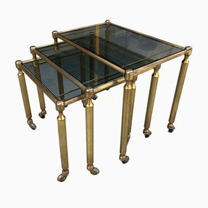 Brass Nesting Tables, 1960s