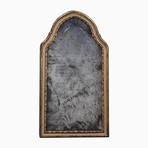 Großer lackierter Spiegel mit Holzrahmen aus 19. Jh.