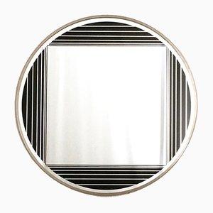 Italienischer runder Wandspiegel von Gianni Celada, 1960er