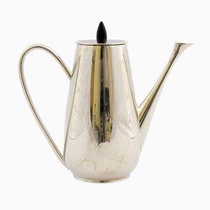 Versilberte Kaffeekanne von Zilfa, 1950er