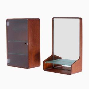 Specchio da parete e consolle Euroika di Friso Kramer per Auping, anni '60