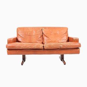 2-Sitzer Leder Sofa von Fredrik A. Kayser für Vatne Møbler, 1960er
