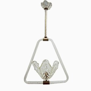 Murano Glass Pendant from Barovier & Toso, 1940s