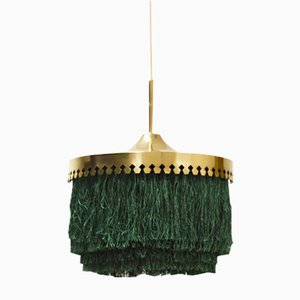 Brass and Silk Fringe Lamp by Hans-Agne Jakobsson, 1960s