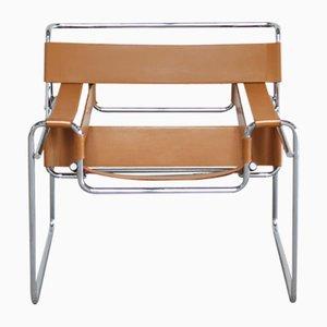 Chaise Wassily B3 Vintage par Marcel Breuer pour Gavina