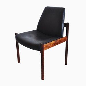 Norwegischer Stuhl aus Palisander & Leder von Sven Ivar Dysthe für Dokka Møbler, 1960er
