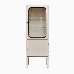 Vintage Steel & Glass Medical Cabinet, 1970s