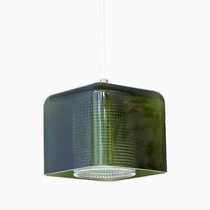 Square-Shaped Glass Pendant Lamp by Carl Fagerlund for Orrefors, 1960s