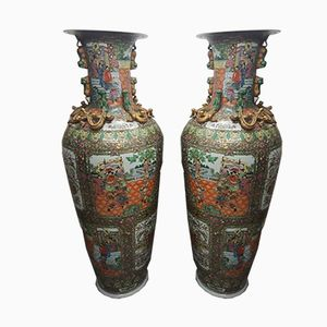Antique Chinese Vases, Set of 2