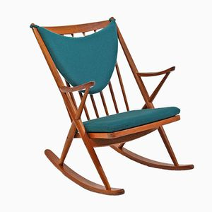 Rocking Chair Modèle 182 par Frank Reenskaug pour Bramin, 1950s