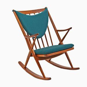 Sedia a dondolo modello 182 di Frank Reenskaug per Bramin, anni '50