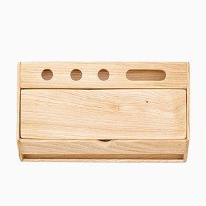 Handgemachter Estuche Schreibtisch Organizer und Smartphone Halter aus Holz von Rafael Fernández für OITENTA