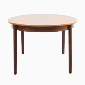 Walnut Oval Dining Table, 1970s