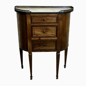 Antique Mahogany Small Dresser with Marble Top