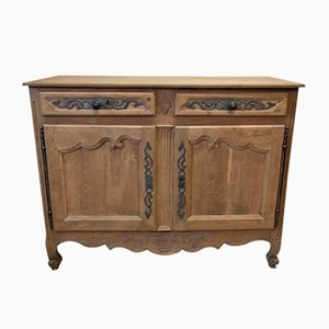 Antique French Bleached Oak Buffet