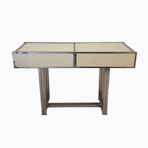 Vintage Console Table with Sliding Top & Hidden Compartment by Willy Rizzo
