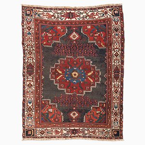 Antique Red & Blue Afshar Persian Rug