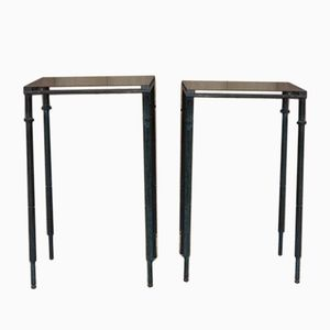 Vintage Steel Occasional Tables, 1950s, Set of 2