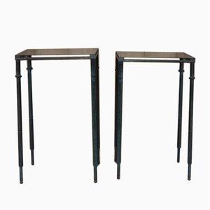 Vintage Tische aus Stahl, 1950er, 2er Set