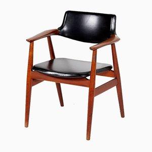 Teak Armlehnstuhl von Erik Kirkegaard für Glostrup, 1960er