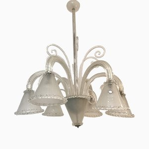 Vintage Italian Murano Glass Chandelier by Barovier & Toso