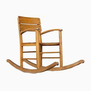 Vintage Beech Children's Rocking Chair, 1960s