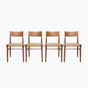 Chaises de Salon 351/ 3 Mid-Century par Georg Leowald pour Wilkhahn, Allemagne, 1950s, Set de 4