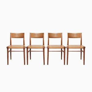 Mid-Century German 351/ 3 Dining Chairs by Georg Leowald for Wilkhahn, 1950s, Set of 4