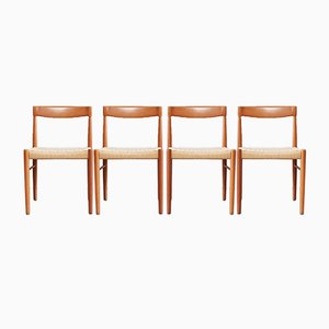 Mid-Century Danish Teak Dining Chairs by Henry W. Klein for Bramin, Set of 4