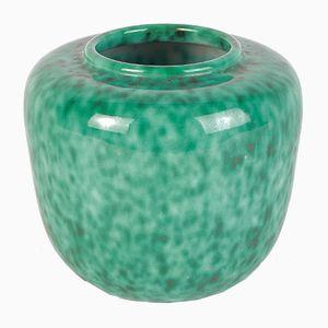 Türkise Keramik Vase von Elchinger, 1960er