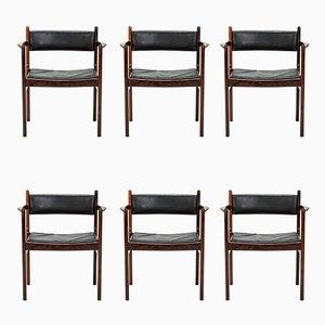 Beistellstühle von Nanna Ditzel für Søren Willadsen Møbelfabrik, 1960er, 6er Set