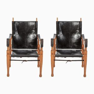 Safari Chairs by Wilhelm Kienzle for Wohnbedarf, 1950s, Set of 2